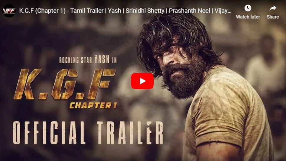 யாஷ் நடிப்பில் உருவாகியுள்ள KGF திரைப்பட trailer வெளியானது!