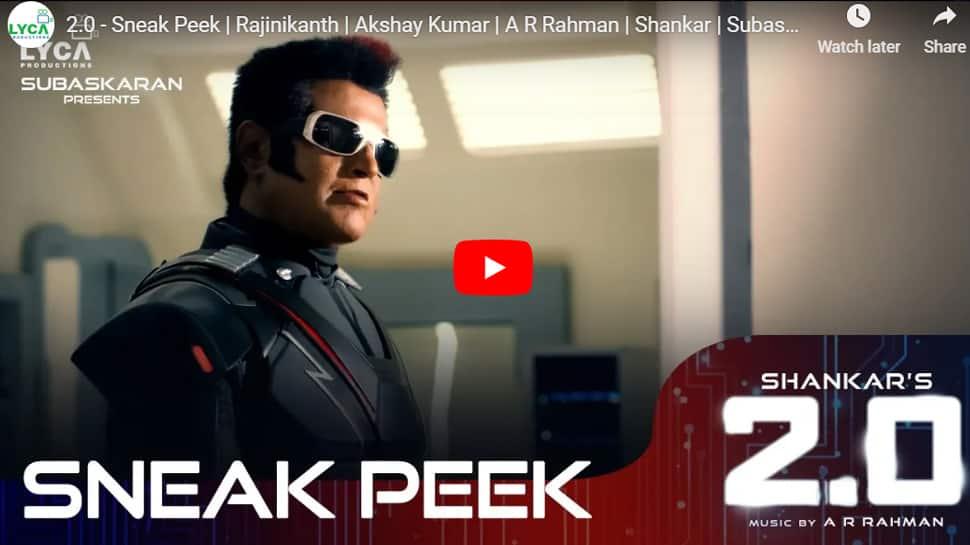 வெளியானது ரஜினி - அக்ஷய் குமாரின் 2.0 Sneak Peek வீடியோ!