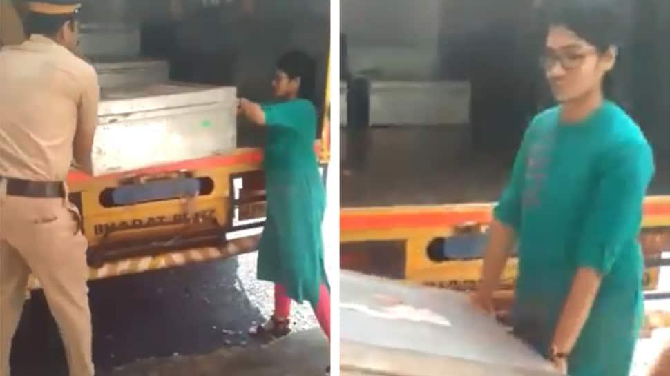 வாக்குப்பெட்டியை சுமந்த பெண் ஆட்சியர்; வைரலாகும் Video!