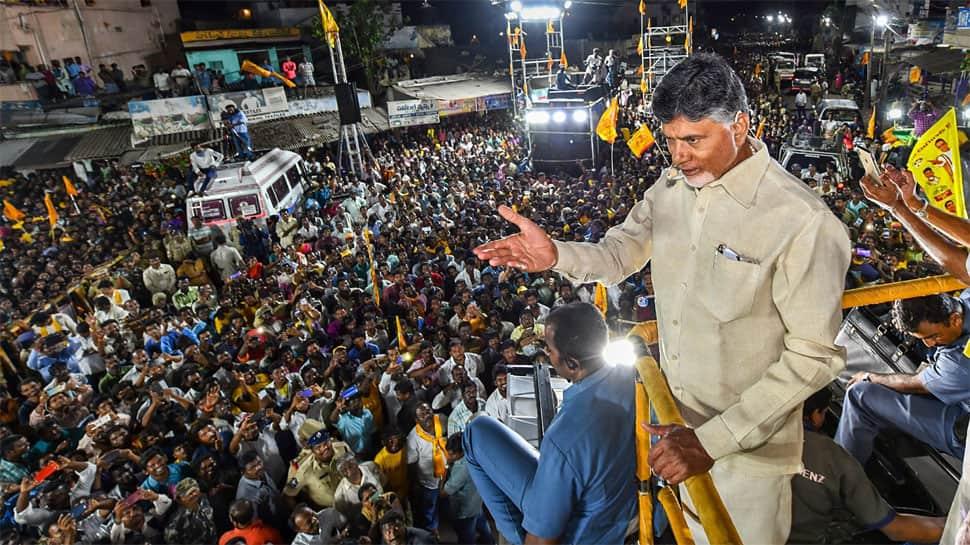 ராகுல் காந்தியுடன் ஆந்திர முதல்வர் சந்திரபாபு நாயுடு சந்திப்பு!