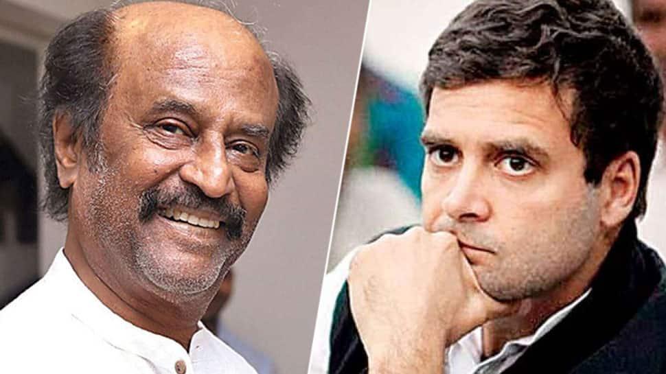 ராகுல் காந்தி ராஜினாமா செய்யக்கூடாது: கட்சியை வலுப்படுத்த வேண்டும்: ரஜினிகாந்த்