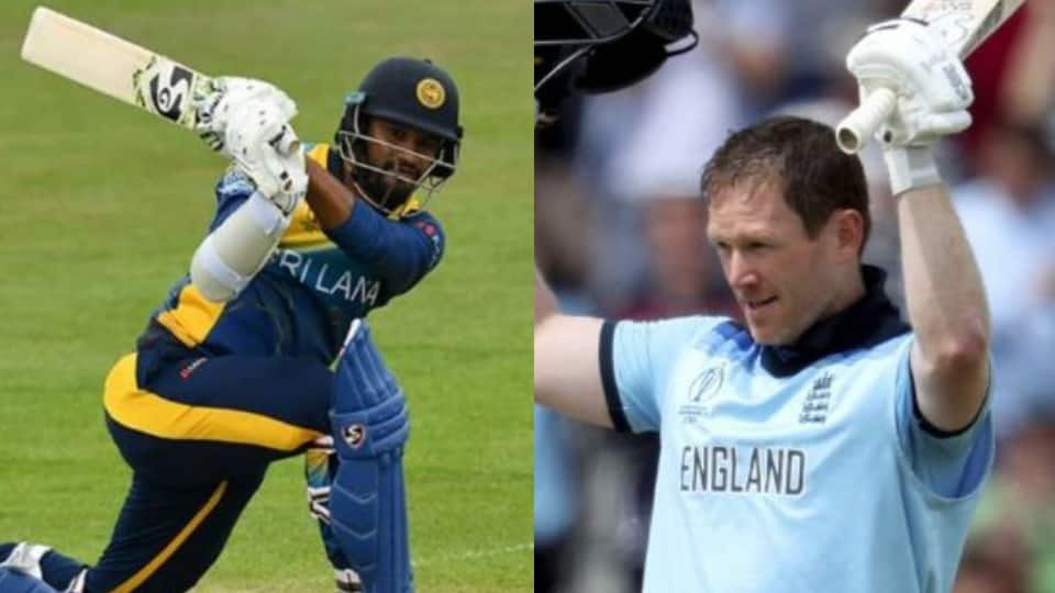 Eoin Morgan and Dimuth Karunaratne
