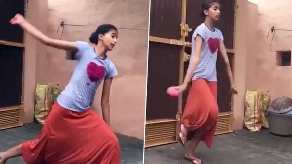ஹர்பஜன் சிங் போன்று பந்து வீசும் சிறுமி; வைரலாகும் Video...
