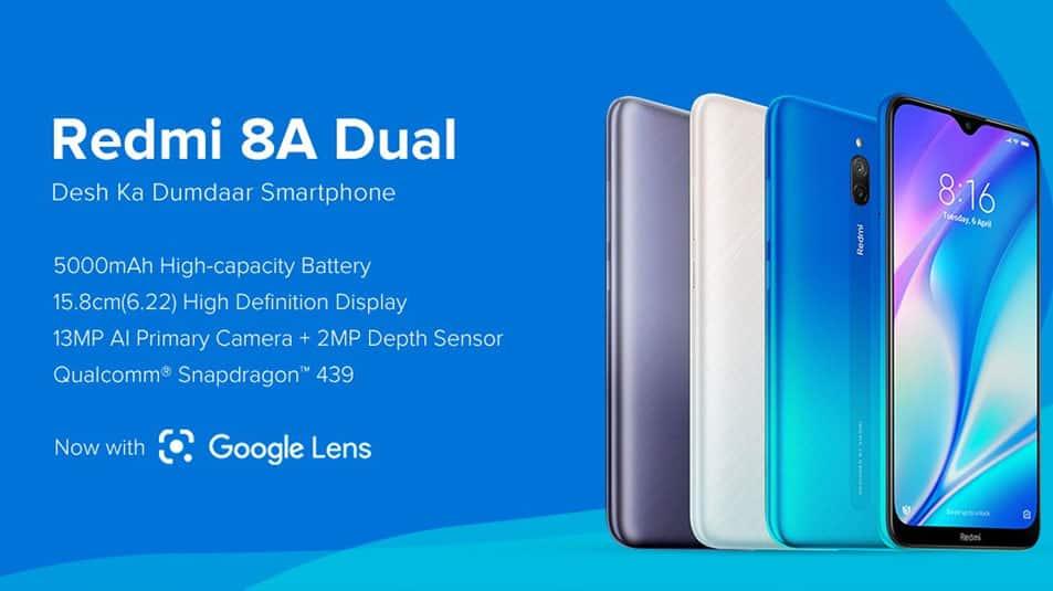 சியோமி நிறுவனம் Redmi 8A Dual போன் வெளியீடு, விலை ரூ. 6,499 இல் தொடங்குகிறது