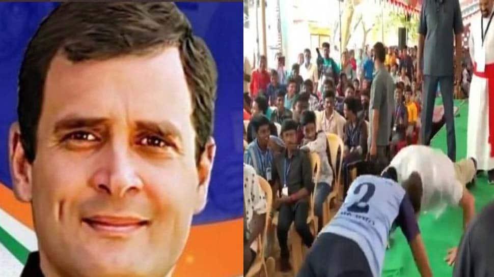 Viral Video: பள்ளி மாணவனுடன் ராகுல் காந்தி Push-up சவால் சமூக ஊடகங்களில் வைரல்