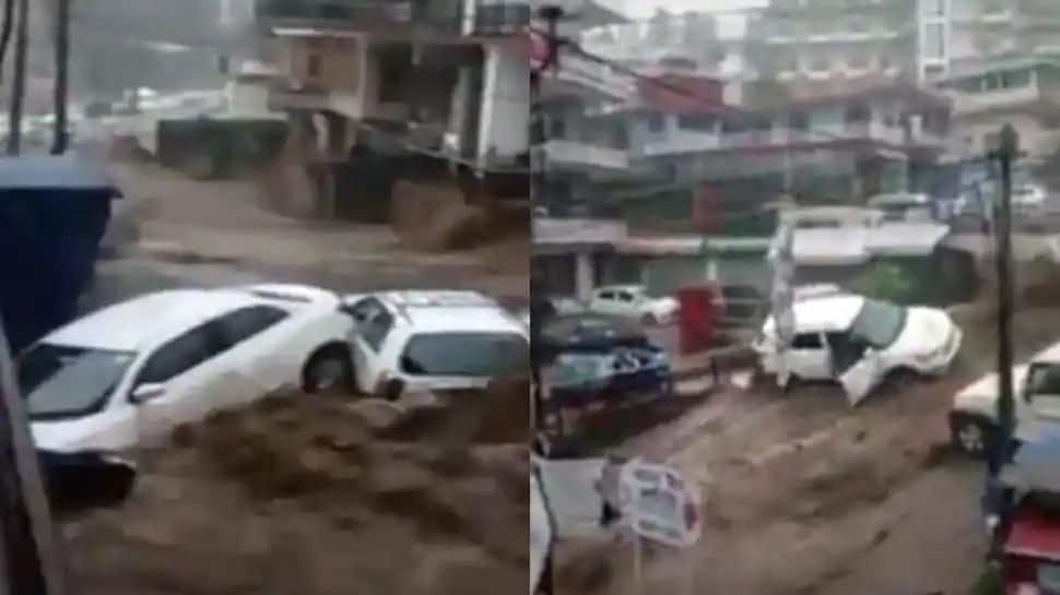 Watch Scary Video: இமாச்சல பிரதேசத்தில் அதிகன மழை, கடுமையான வெள்ளம்
