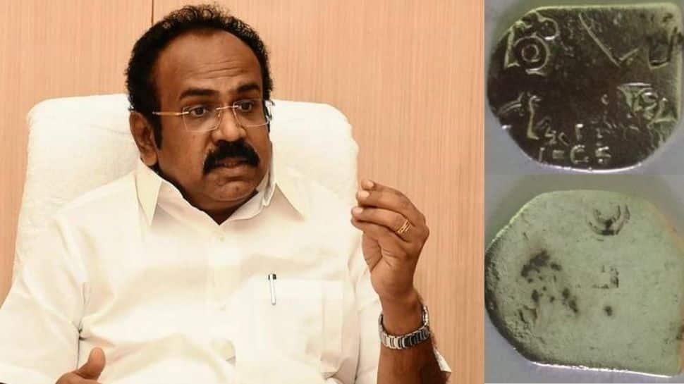 Keezhadi excavation silver coin found see what minister Thangam Thennarasu had to say   கீழடியின் கொடை குறைவதில்லை: அமைச்சர் தங்கம் தென்னரசு உருக்கம்