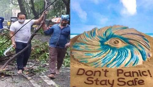 Cyclone Tauktae; டக் தே சூறாவளியின் கோரத் தாண்டவம் புகைப்படங்களில்...
