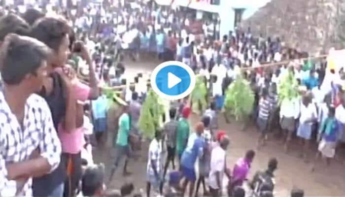 திருச்சியில் நடைபெற்ற ஜல்லிக்கட்டு வீடியோ!!