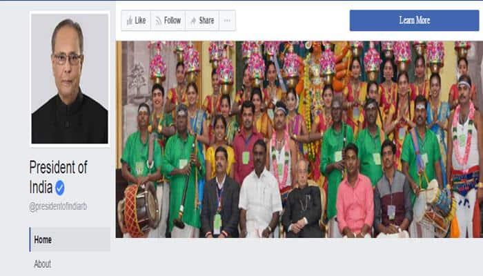 தமிழக கலைஞர்களுடன் பேஸ்புக் கவர் படமாக்கிய ஜனாதிபதி