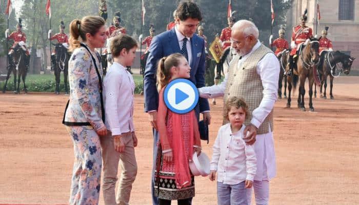 Video: மோடியை மெய்சிலிர்க்க வைத்த கனடா பிரதமரின் குழந்தைகள்!