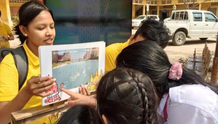 கம்போடியாவில், சமூக ஆர்வளர்களாய் மாறிய பள்ளி மாணவர்கள்!