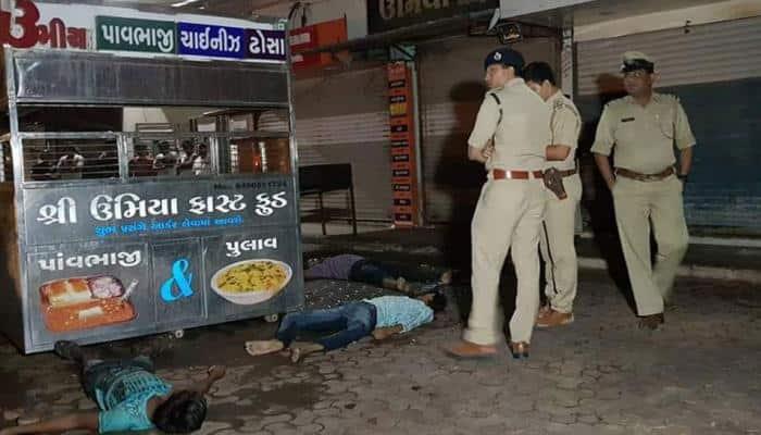 சூரத்தில் மின்சாரம் தாக்கி 3 பேர் பலியான காட்சி சி.சி.டி.வி-ல் பதிவு