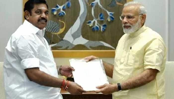 #Cauvery Issue: பிரதமரிடம் முதல்வர் நேரில் மனு!