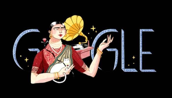 இன்றைய கூகுள் டூடுலில் பிரபல பாடகி கவுர் ஜான்!!