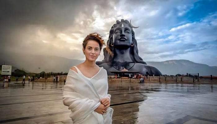 SeePics: கோவை ஈஷா மையத்தில் கங்கனா ரணாவத்!
