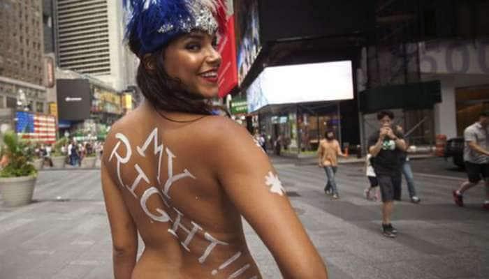 பாலின சமத்துவத்தை வலியுறுத்தும் 'Topless Day' ஊர்வலம்!