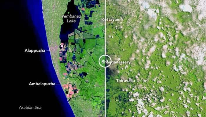 கேரளா வெள்ளத்திற்கு முன், பின் புகைப்படத்தை வெளியிட்ட NASA -Seepic!