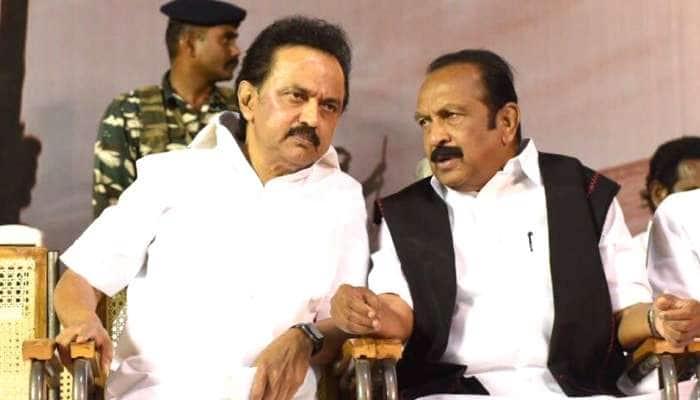 DMK தலைவர் MK ஸ்டாலின் நலமாக உள்ளார் என வைகோ தகவல்..