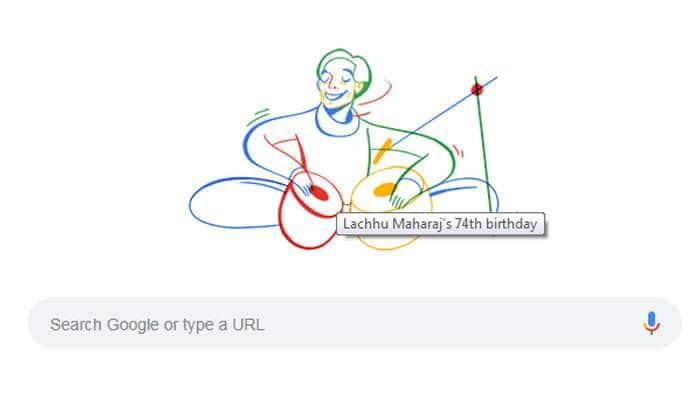 தபேலா ஜாம்பவான் லச்சு மகாராஜை கவுரவித்த Google Doodle!!