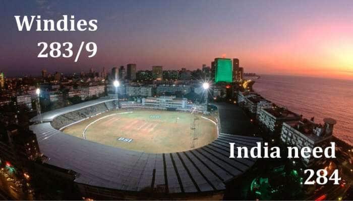 INDvsWI: மேற்கிந்தியா 283/9; இந்தியாவின் வெற்றி இலக்கு 284 ரன்கள்