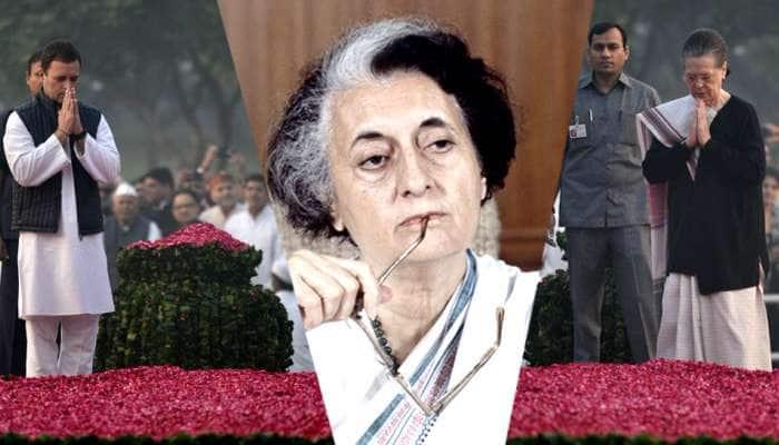 இந்திரா காந்தி நினைவிடத்தில் காங்கிரஸ் தலைவர்கள் அஞ்சலி....