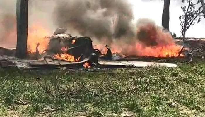 IAF-க்கு சொந்தமான ஜாகுவார் ரக போர் விமானம் விபத்து....