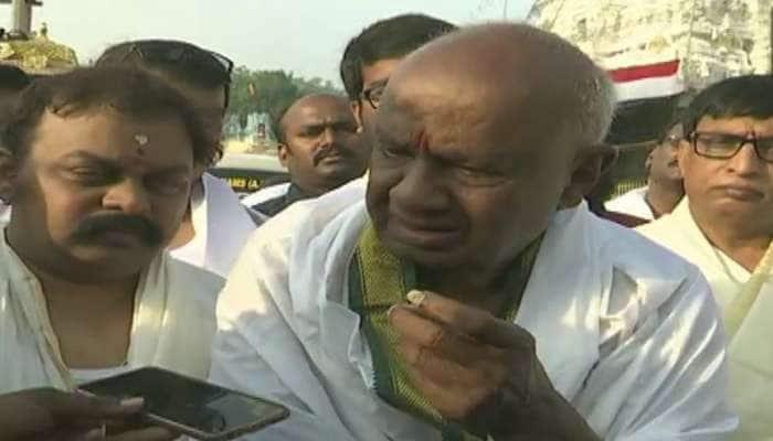BJP அதிகாரத்திற்கு வருவதைத் தடுக்க காங்கிரஸ்க்கு JD(S) ஆதரவு: தேவ கவுடா!