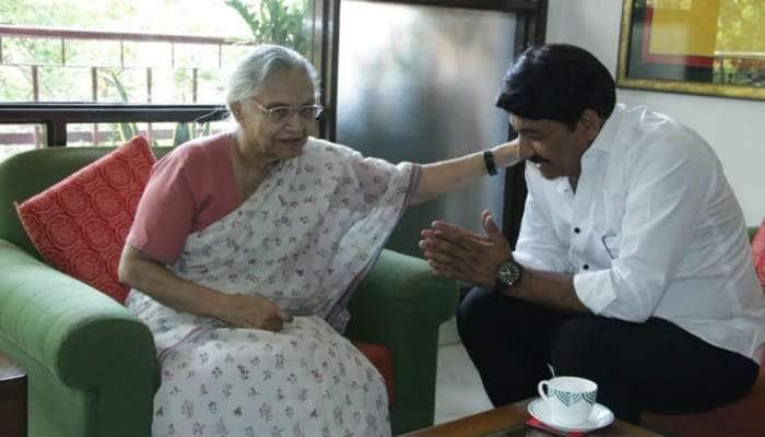 காங்., மூத்த தலைவரை சந்தித்து வாழ்த்து பெற்ற BJP வெற்றி வேட்பாளர்!