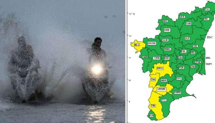 தென் மேற்கு மாவட்டங்களில் அடுத்த 24 மணி நேரத்தில் கனமழை எச்சரிக்கை: IMD