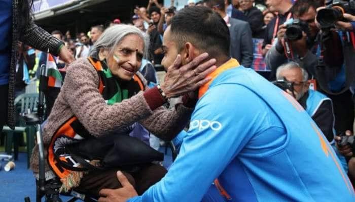 இந்திய வீரர்களை உற்சாகப்படுத்திய 87 வயது மூதாட்டி சாருலதா படேல்!