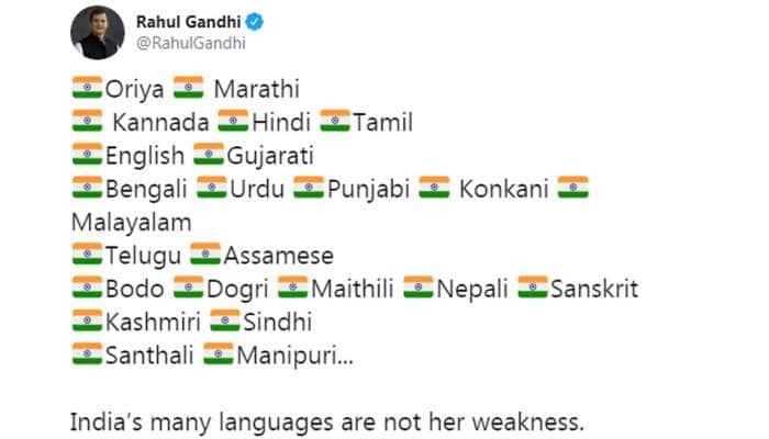 இந்தியாவில் பல மொழிகள் இருப்பது பலவீனம் இல்லை; பலம்: ராகுல் காந்தி