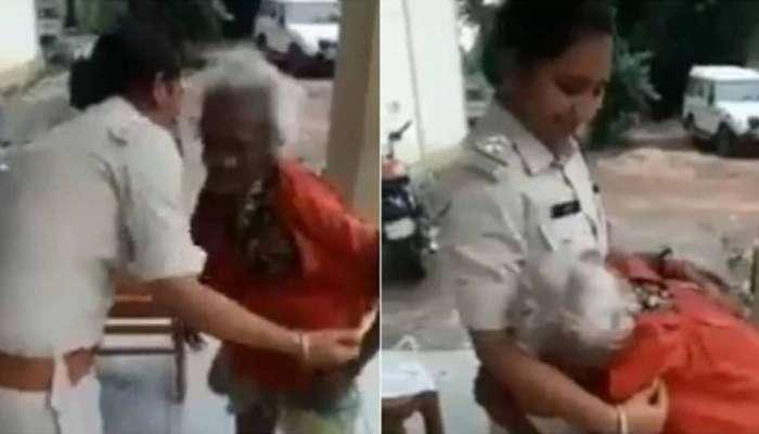 பார்வையாளர்களின் இதயத்தை கவர்ந்த MP பெண் போலீஸ்: Watch..!