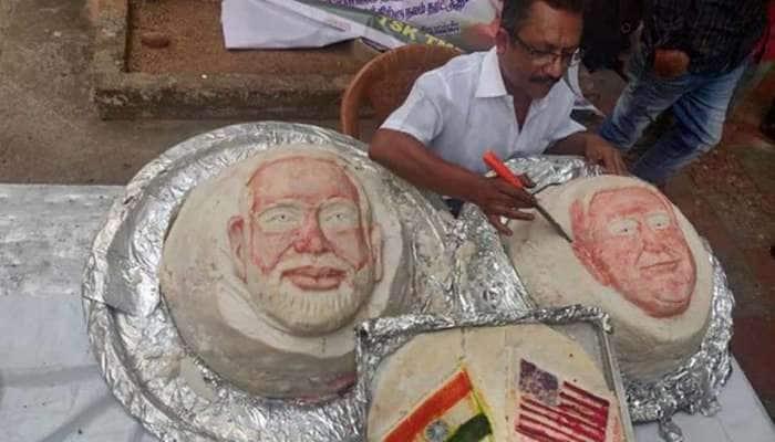 டிரம்பை கௌரவப்படுத்த 3 பிரமாண்ட இட்லியை உருவாக்கிய உணவு கலைஞர்!