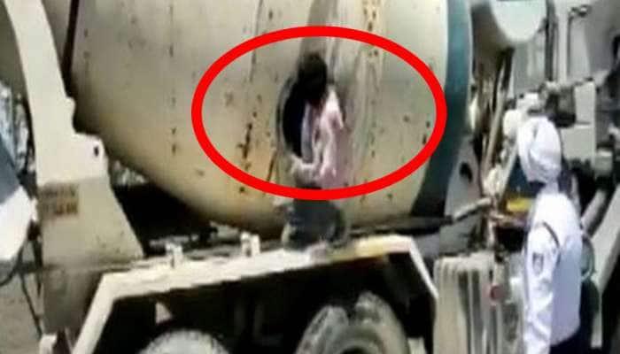 சிமெண்ட் கலவை வாகனத்தில் வந்த 18 பேர்: இந்தூர் போலீசாரிடம் பிடிபட்டனர்