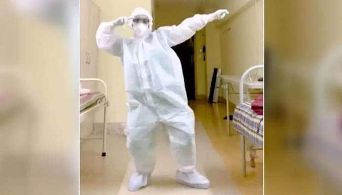 PPE ஆடையில் நோரா ஃபதேஹியின் பாடலுக்கு அட்டகாசமாக நடனமாடும் மருத்துவர்..!