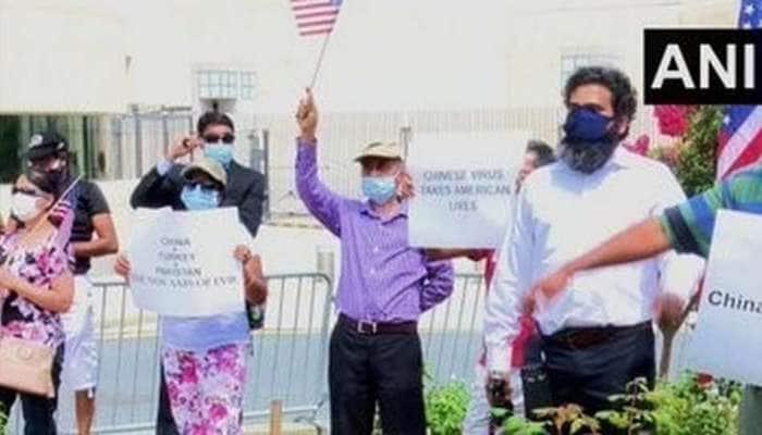 அமெரிக்காவில் நடத்திய போராட்டத்தில் சீனாவை எச்சரித்த அமெரிக்க இந்தியர்கள்!!