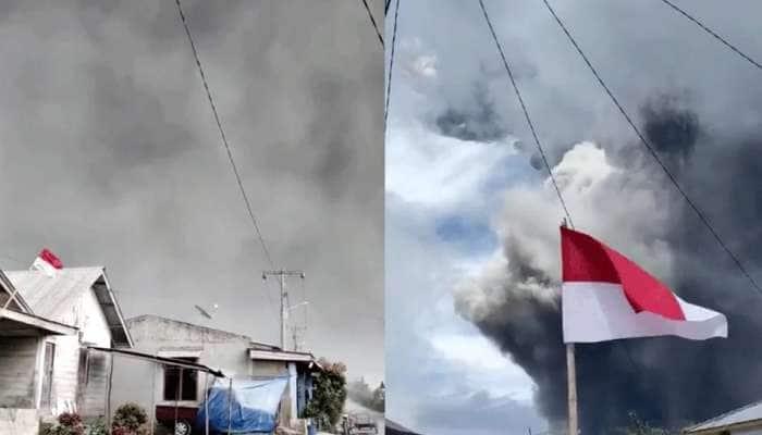 Video: இந்தோனேஷியாவின் சினாபுங் எரிமலை வெடித்து பரவிய சாம்பலால் இருள் சூழ்ந்தது..!!!