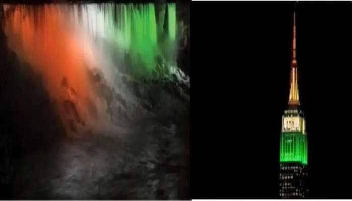 Watch Video: ஜெய்ஹிந்த்!  மூவர்ண கொடியாக ஒளிரும் நயாகரா நீர் வீழ்ச்சி