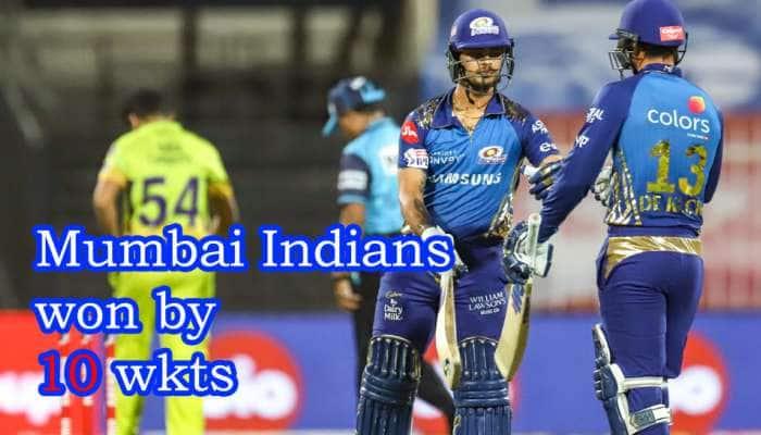 IPL 2020 Chennai vs Mumbai: சென்னை பிளேஆப் வாய்ப்பை இழந்தது!! மும்பை வெற்றி
