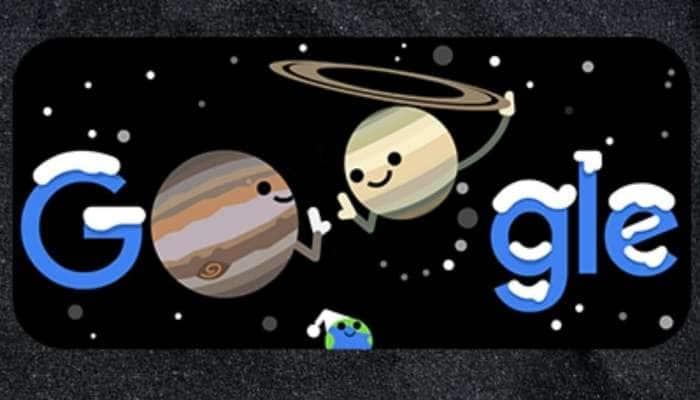 வியாழன், சனி கோள்களின் 'Great Conjunction'-ஐ தன் பாணியில் கொண்டாடும் Google Doodle