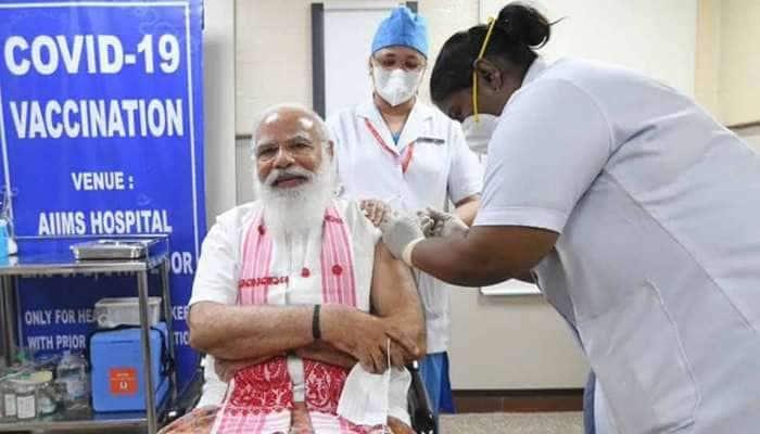 கொரோனா தடுப்பூசியை செலுத்திக்கொண்டார் PM Narendra Modi!