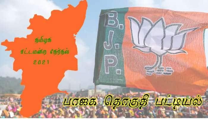 தமிழக சட்டமன்ற தேர்தல் 2021: BJP களம் காணும் தொகுதிகளின் பட்டியல்