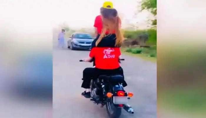 Bike Stunt செய்த இரு பெண்களின் வீடியோ வைரல், 28,000 ரூபாய் அபராதம்