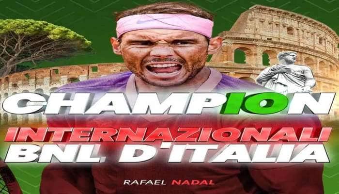 Italian Open 2021: ஜோகோவிச்சை வீழ்த்தி சாம்பியன் ஆனார் ரபேல் நடால்