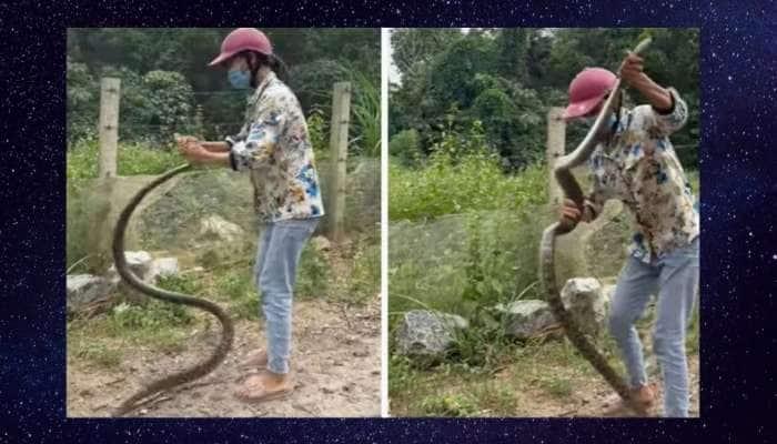Watch Video: பாம்பை அசால்டாக பிடித்து அதிரடி காட்டிய பெண்ணின் வீடியோ வைரல்