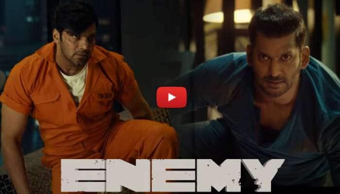 """Enemy Teaser: ஆர்யா - விஷால் நடித்த """"எனிமி: படத்தின் டீசர் வெளியானது"""