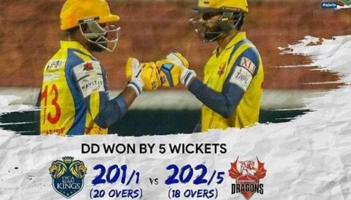 TNPL 2021: கோவை vs திண்டுக்கல்; 5 விக்கெட் வித்தியாசத்தில் திண்டுக்கல் வெற்றி