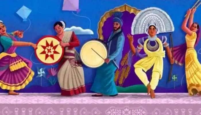 Google Doodle: இந்தியாவின் பன்முக கலாசாரத்தை பிரதிபலிக்கும் கூகுள்