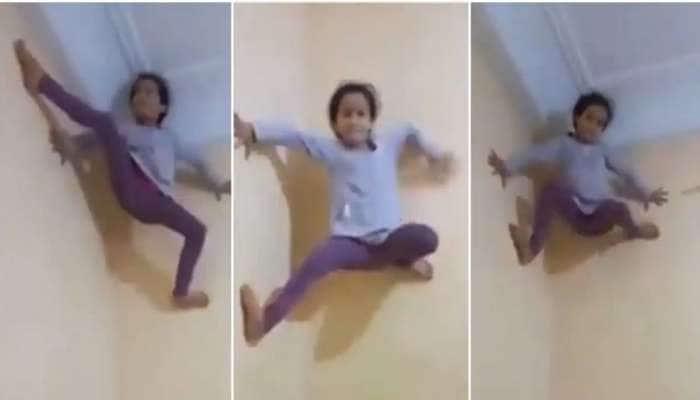 Viral Video: சிலந்தியைப் போல் சுவற்றில் ஏறி அசத்தும் Spider Girl..!!